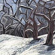 Early Snow Art Print by Grace Keown