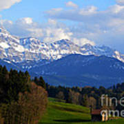 Early Snow In The Swiss Mountains Art Print