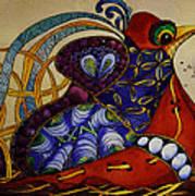 Early Worm Gets The Bird Art Print