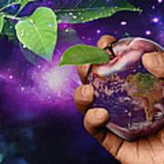 Earth Apple Art Print