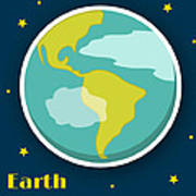 Earth Art Print by Christy Beckwith