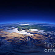 Earth - Mediterranean Countries Art Print by Johan Swanepoel
