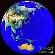 Earth Seen From Space Australia And Azia Art Print