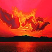 Earth Sunset Art Print