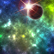 Earth The Final Frontier  Art Print