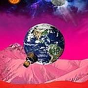 Earth To Mars Art Print