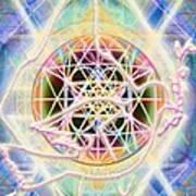 Earth Water Spirit Madonna Peace Matrix Art Print