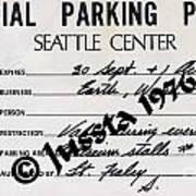 Earth Wind Fire Seattle Parking Permit Art Print