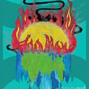 Earth's Melt Down Art Print