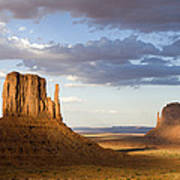 East And West Mittens Monument Valley Art Print