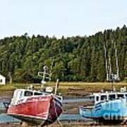 East Coast Low Tide Scene Art Print