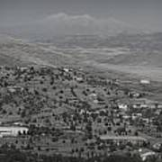 East Prescott Black And White Art Print