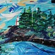 Campobello Lighthouse Abstract Art Print