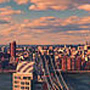 East River Bridges Art Print