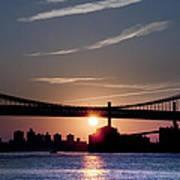 East River Sunrise - New York City Art Print