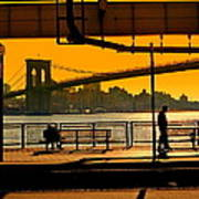 East River Sunset Art Print