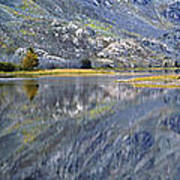 East Rosebud Lake Fall Panorama Art Print by Roger Snyder