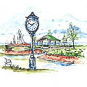 East Tawas Harbor Park Art Print