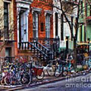 East Village Bicycles Art Print