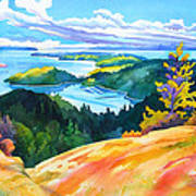 Easter Bluff View Art Print