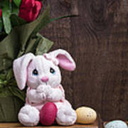 Easter Bunny Card Art Print