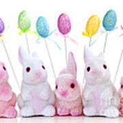 Easter Bunny Toys Art Print
