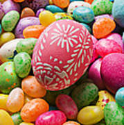 Easter Egg And Jellybeans  Art Print