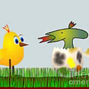 Easter Egg - Disagreeable Surprise Art Print
