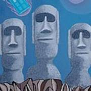 Easter Island Revisited Art Print by Anthony Morris