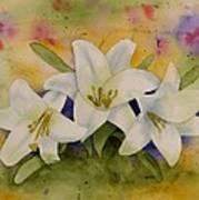 Easter Lilies Art Print