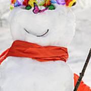 Easter Snowman Art Print