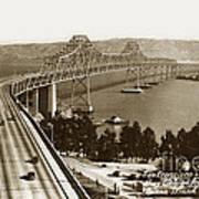 Eastern Span Of San Francisco-  Oakland Bay Bridge Circa 1937 Art Print