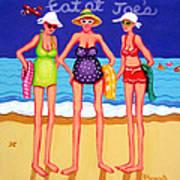 Eat At Joes - Beach Gossip Art Print