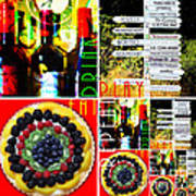Eat Drink Play Repeat Wine Country 20140713 v3 Art Print