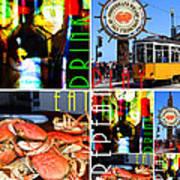 Eat Drink Play Repeat San Francisco 20140713 Vertical V1 Art Print