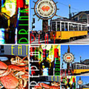Eat Drink Play Repeat San Francisco 20140713 Vertical V2 Art Print