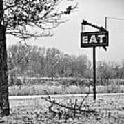 Eat Here Art Print