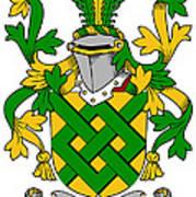 Eaton Coat Of Arms Irish Art Print