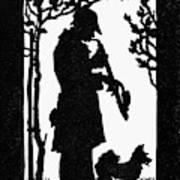 Eckstein Man And Dog Art Print