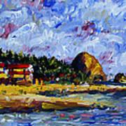 Ecola Creek Estuary Art Print