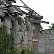 Ecuadorian House Falling Into Ruin Art Print