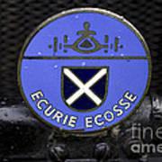 Ecurie Ecosse Badge Art Print