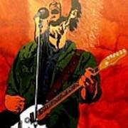 Eddie Vedder-eddie Live Art Print by Bill Manson