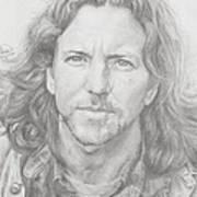 Eddie Vedder Art Print by Olivia Schiermeyer