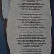 Eden's Womb Poem Collage Art Print