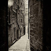 Edinburgh Alley Sepia Art Print