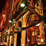 Edinburgh Pub At Night Art Print
