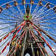 Edinburgh's Christmas Ferris Wheel Art Print