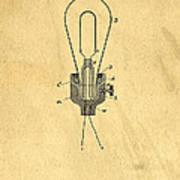Edison Light Bulb Patent Art Art Print