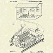 Edison Locomotive 1892 Patent Art Art Print by Prior Art Design